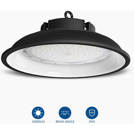 200W 26000LM IP65 White LED High Bay UFO Light Commercial Ceiling Industrial Light