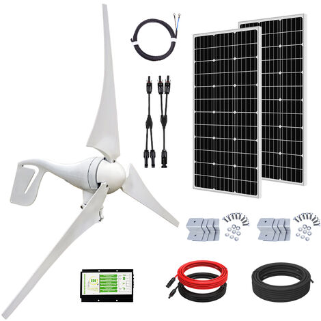 """main image of """"200W 2pcs 100W 12V SOLAR PANEL off grid & 20A CMG solar charging controller"""""""