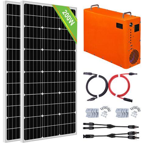 200W Sistema completo de paneles solares 1 kW Generador de maleta portátil 1 kW · h Batería LiFePO4