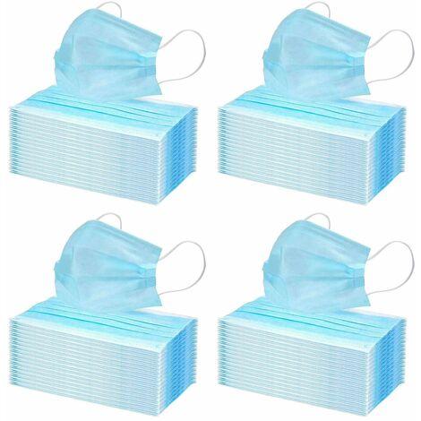 200x Einmal-Mundschutz 3 lagig Mundschutzmaske Atemschutz Mund- Nasenbedeckung