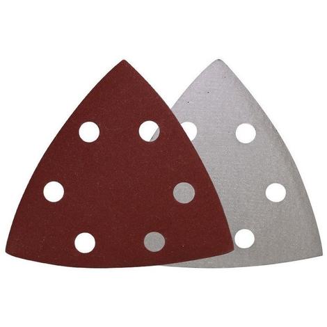200x Haft-Schleifblätter K80 93 mm Deltaschleifer Klett Dreiecke