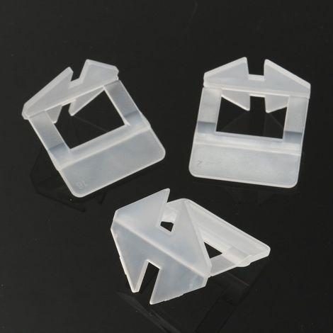 200x Système de Nivellement Carrelage Sol Mural Espaceur Niveau Pince Clip 1mm