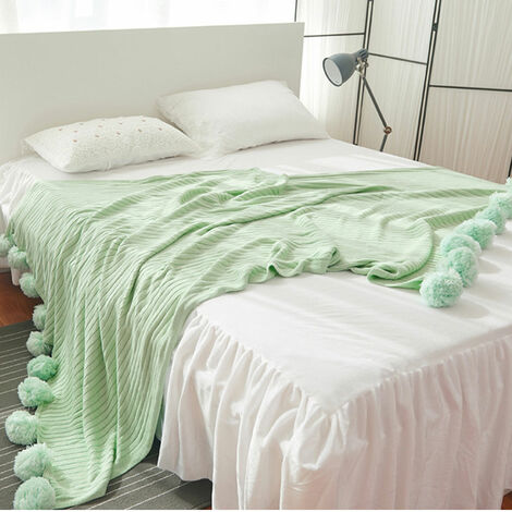200x150cm Large Knit Throw Crochet Blanket Blanket Yarn Cotton Baby Mat Bed Sofa Mohoo