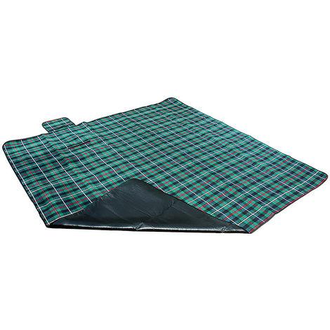 200x200cm Couverture de pique-nique vert foncé Couverture de protection contre l'humidité Couverture de camping Couverture de voyage Couverture de barbecue