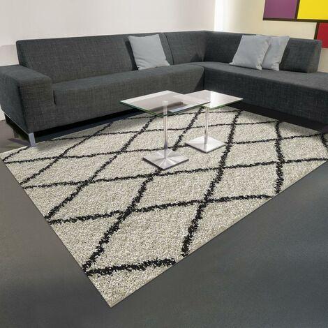 200x280 - tapis berbère SHAGGY BERBERIAN Crème tapis Salle à manger