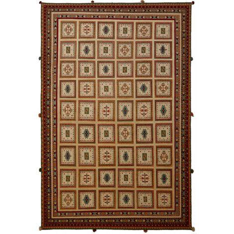 200x300 Authentique tapis d'Orient entièrement noué à la main SHAMALKA RELIEF 3D 3 1A2T en Laine