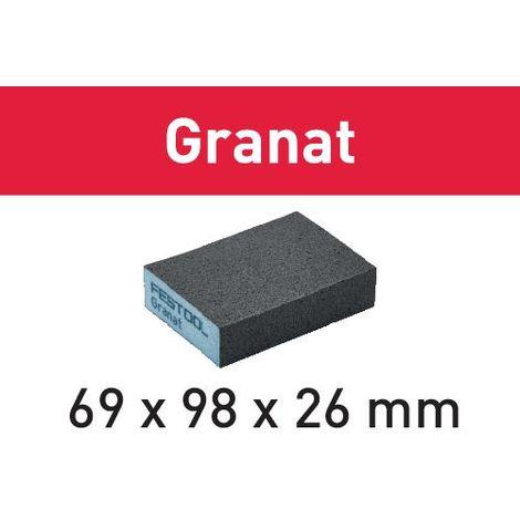 201082 Festool Éponge de ponçage 69x98x26 120 GR/6 Granat
