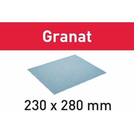 201088 Festool Abrasivo 230x280 P80 GR/50 Granat