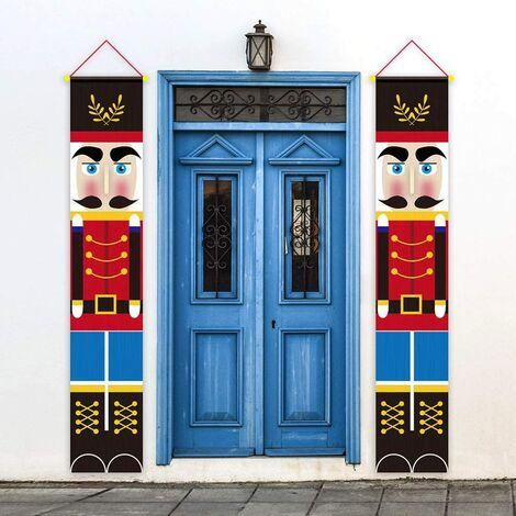 2020 accesorios de decoración navideña, decoración navideña, modelo de soldado, carteles de cascanueces para puerta de entrada, porche, jardín, interior, exterior, fiesta infantil