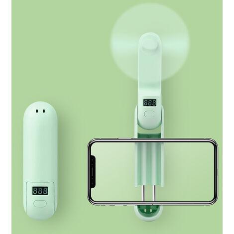2020 Nouveau Style Usb Mini Folding Multifonction Portable Ventilateur Exterieur, Vert