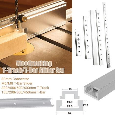2020 nouveau T-Bar en alliage d'aluminium pour menuisier routeur manuel Table scie bricolage outil de travail du bois M6 Barre en T 0,2 m M6