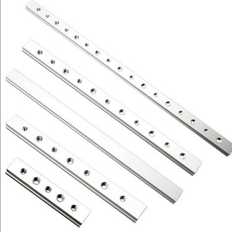 2020 nouveau travail du bois bricolage alliage d'aluminium T-track / onglet T-Bar pour menuisier manuel routeur Table scie M8 Barre en T 0,2 m M8