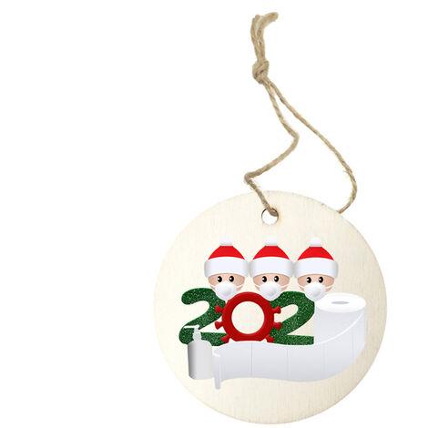 2020 Nueva decoracion del arbol de Navidad Navidad de la familia sobrevivio el ornamento colgante decoracion del hogar, tipo 3