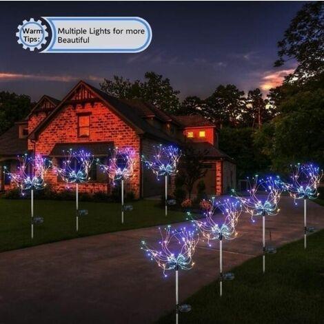 2021 fireworks solar Multicolor 90 LED lights