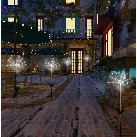 2021 fireworks solar White 120 LED lights