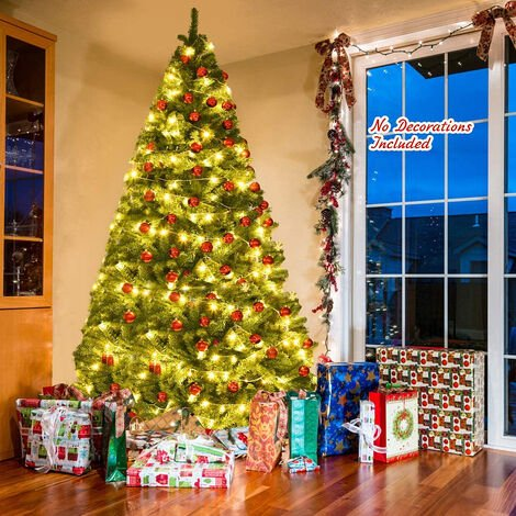 2021 New Artificial Christmas tree Plastic Christmas Decorations Holder Base For Christmas Home Party Decoration Green Miniature Tree 9ft