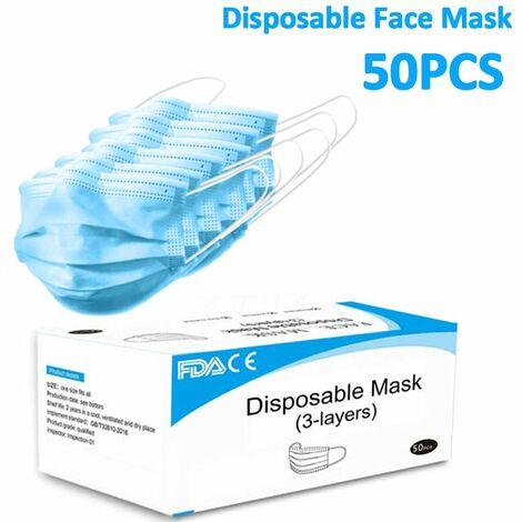 2021 Nouveau 50X Masque Médical Chirurgical Jetable Masque Respiratoire Facial Fda Ce Hasaki