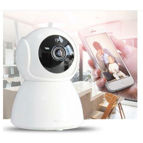 2021 Version Caméra Surveillance WiFi Intérieure Caméra 360° Connectée Smartphone 1080P avec Détection Humaine AI