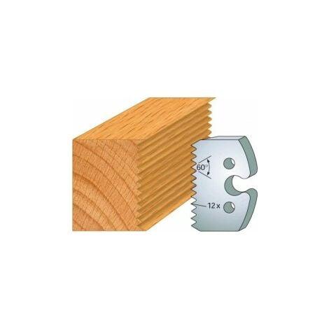 203 : jeu de 2 fers 50 mm assemblage enture pour porte outils 50 mm