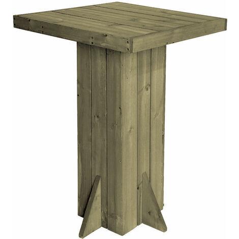 2.04 Holz Bartisch 74x74 cm - Höhe 110 cm
