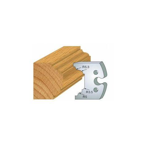204 : jeu de 2 fers 50 mm moulure petit bois pour porte outils 50 mm