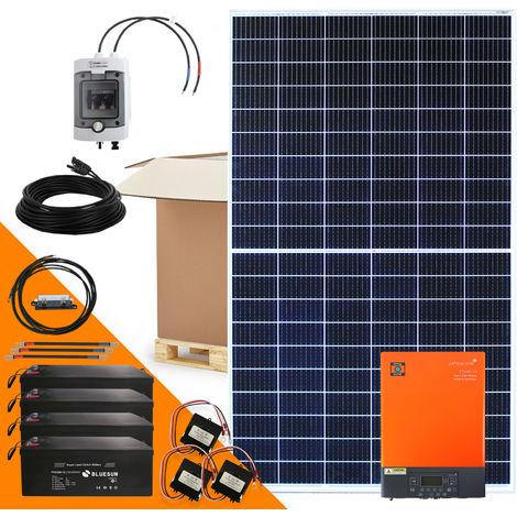 2040 Watt Solaranlage Hybridset einphasig mit 6 kWh Solarspeicher netzunabhängig