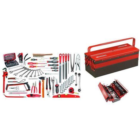 2046.SG4A Sélection services généraux 112 outils plus boîte à outils métal 804.97