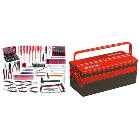 2050.E17 Sélection électronique 101 outils plus boîte à outils métal 1340.49