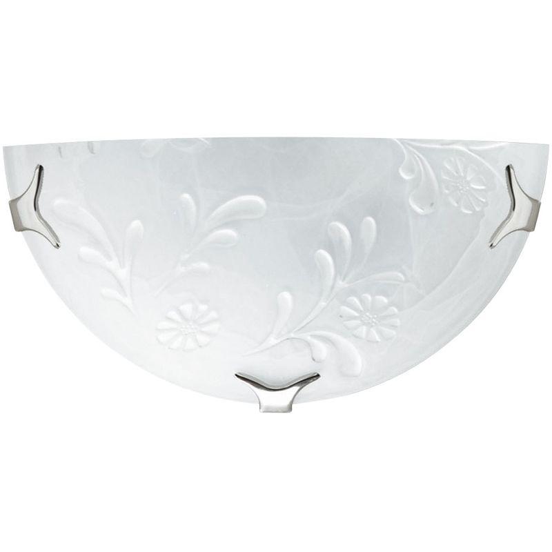 Applique bianca dal design classico con decoro