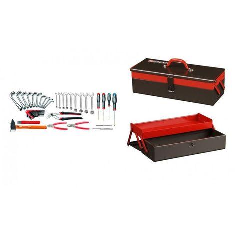 2060.LT3 Sélection maintenance Industrielle 39 outils plus boîte à outils métal 2 cases 422.26