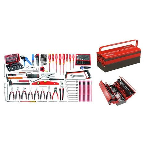 2070.E18 Sélection électronique 120 outils plus boîte à outils métal 1957.75