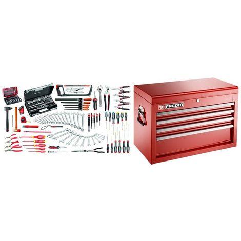 2074.M130A Sélection maintenance industrielle 165 outils et coffre 4 tiroirs