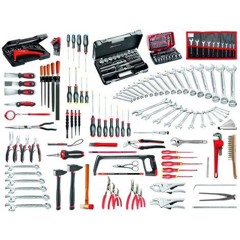 2074.M140A Sélection maintenance industrielle 200 outils plus coffre 4 tiroirs