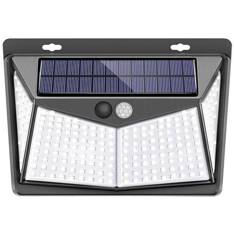208LED Solar Lamp Wall Light Waterproof Outdoor Garden Motion Detector 3Mode Hasaki
