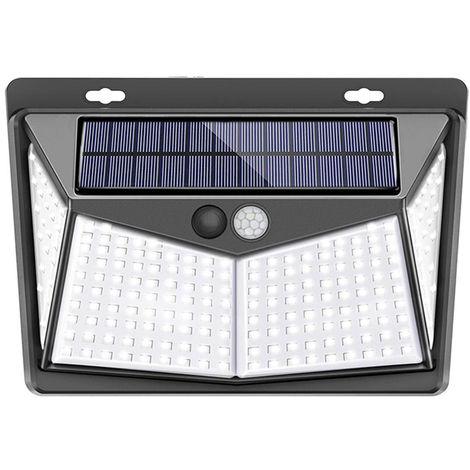 208LED Solar Light Wall Lamp PIR Motion Sensor Light IP65 Water-resistant