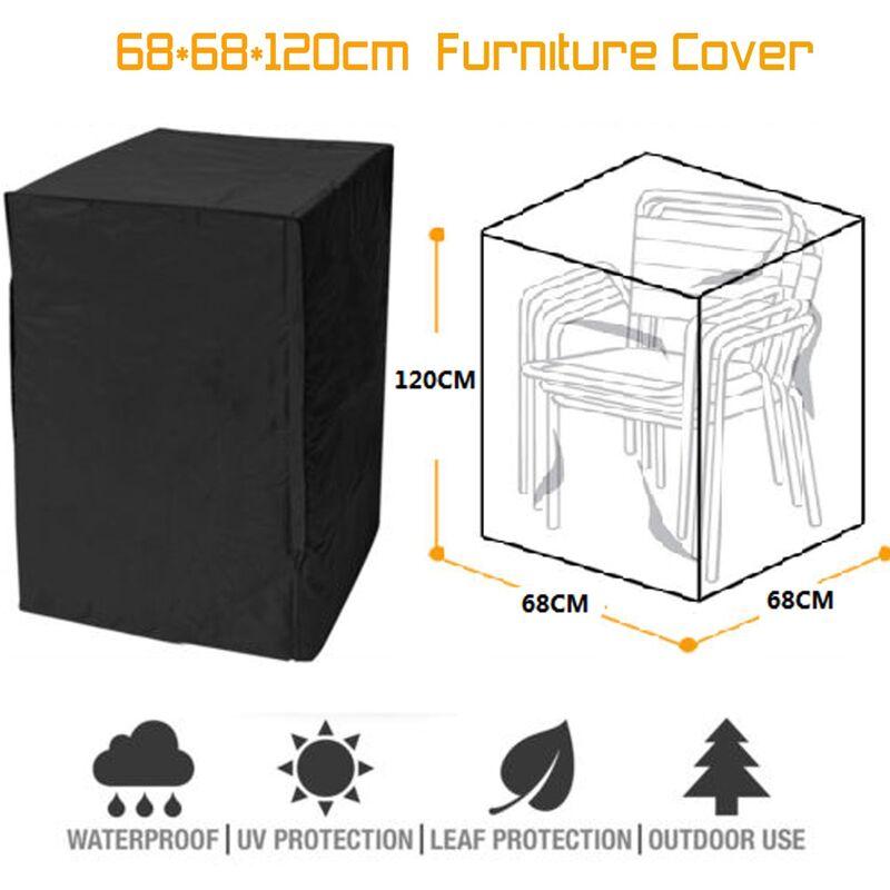 68 * 68 * 120cm chaise couverture de meubles de bureau protecteur imperméable de jardin de parc