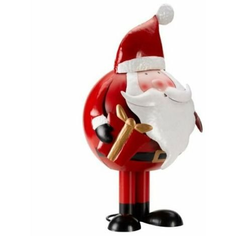 20cm Christmas Outdoor Large Wibbly Wobbly Red Santa Claus Steel Figurine