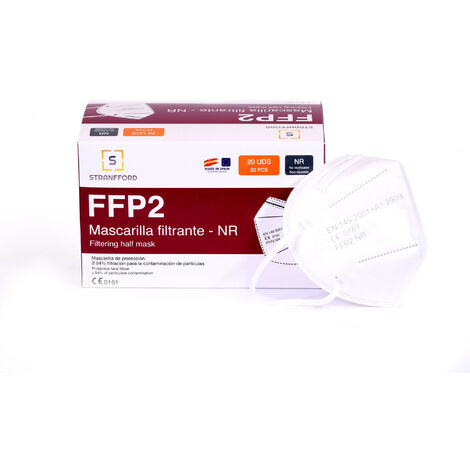 20er- Pack FFP2 Masken Hergestellt in Spanien Weiß