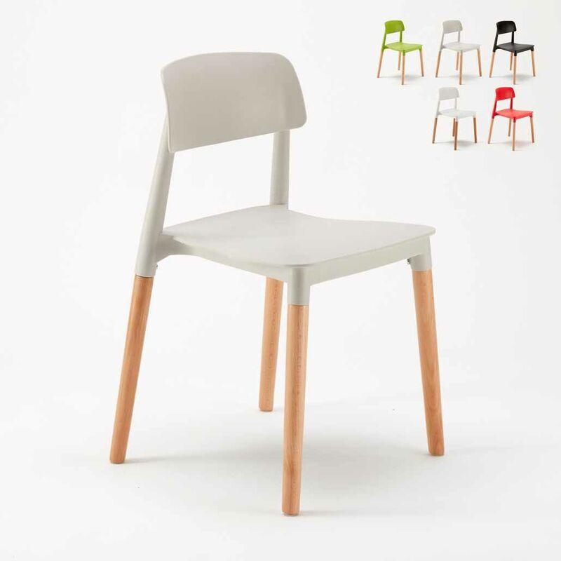 20er Stock Set Esstischstühle Esszimmerstühle Bistrostühle Bars Modern  Polypropylen Holz BARCELLONA
