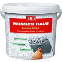 20kg Lugato Weisses Haus Kunstharz-Rollputz