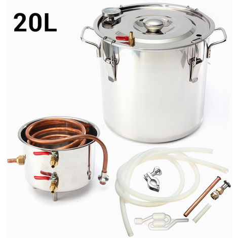 20L Alcohol Moonshine Water Copper House Stainless Alcohol Distiller