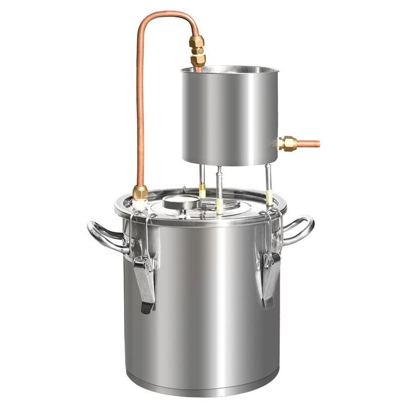 Destilador de bebidas alcohólicas eléctrico de 12 l, agua, destilador de vino, caldera DIY 3,2 galones