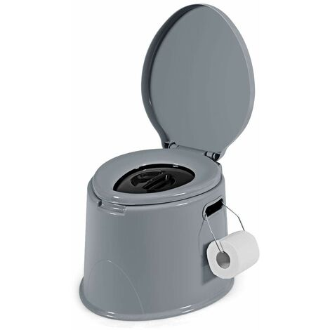 20L Portable Toilet Compact Potty Loo Camping Caravan Picnic Fishing Festivals 43*39*35cm Gray