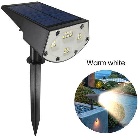 20LED Solar Powered Lawn Lamp Solar Garden Light Outdoor Lighting Warm white