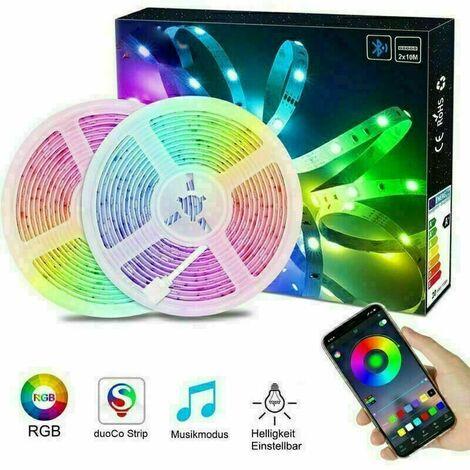 20M 150 RGB LED Strip Streifen Band Fernbedienung Farbwechsel statischer & dynamischer