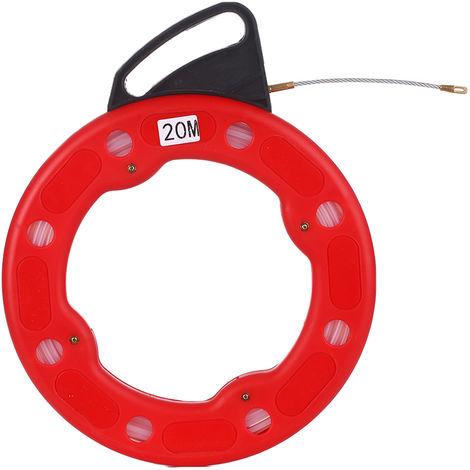 20M fibra de vidrio pescado Reel Tape tirador de cable conductor electrico extractor de Impacto Caso electrico o cable tirador Comunicacion Uso de paneles de yeso del techo Under Rug conducto o tuberia