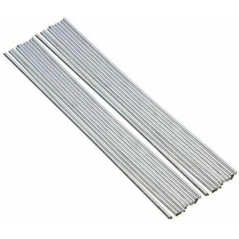 20pcs de aluminio Varillas para soldar nucleo solido no Flujo Requerido bajo punto de fusion Resistencia a la corrosion, 250 x 3,2 mm