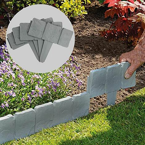 20PCS en plastique de bordure de pelouse bordant le mur de clôture de bord d'herbe de jardin