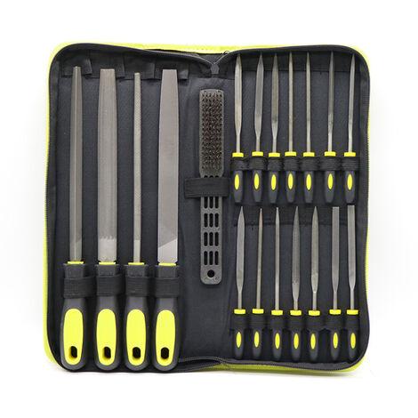 20PCS fichier acier Kit assorti Rape Reparation Jeu d'outils pour le travail du bois avec sac de rangement