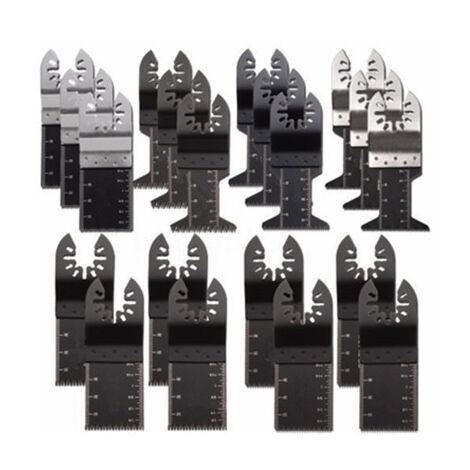 20Pcs Lames de scie oscillantes, multitool universel bois / métal / plastique professionnel, lames de scie à dégagement rapide